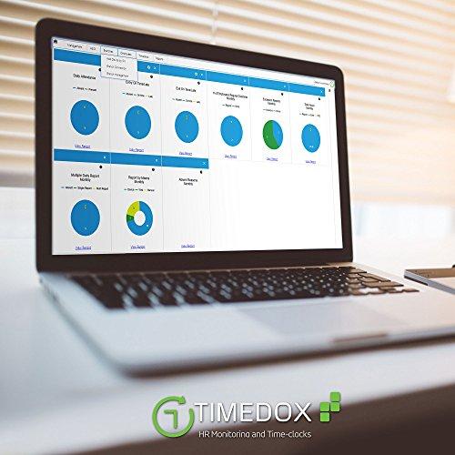 Timedox Silver, Biometric Fingerprint Time Clock for
