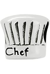 Genuine Zable (TM) Product. 925 Sterling Silver Chef Hat Bead Charm. 100% Satisfaction Guaranteed.