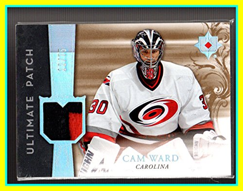 Jersey Cam Ward - 2006-07 Ultimate Collection Patches #UJCW Cam Ward GAME USED JERSEY PATCH 2-Color SERIAL #12/75 Carolina Hurricanes