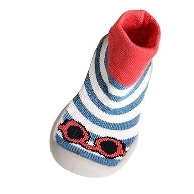 LACOFIA Baby Jungen M/ädchen Socken Schuhe Unisex Kleinkind Hausschuhe Socken Stiefel mit rutschfest Gummisohle
