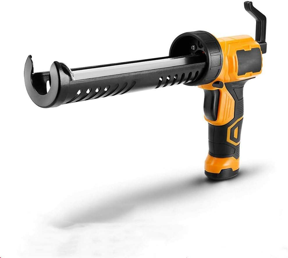 ZHaoZCL Automática Pistola para calafatear, Power Masilla Adhesiva Pistola con gatillo Gator Comfort Grip10 Oz Calor Caliente sin Cable, 12 V fácil de Usar Mango