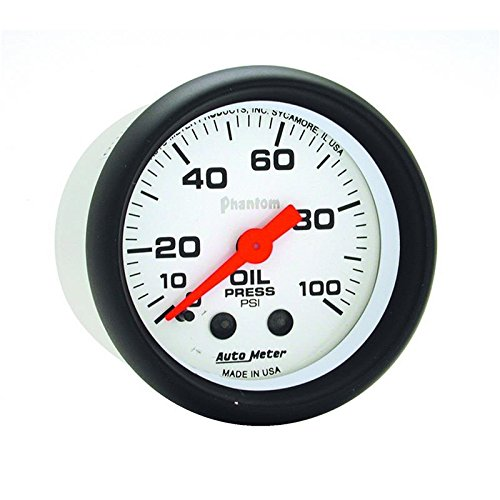 (Auto Meter Phantom 52Mm 0-100 Psi Mechanical Oil Pressure Gauge By Jm Auto Racing (5721))
