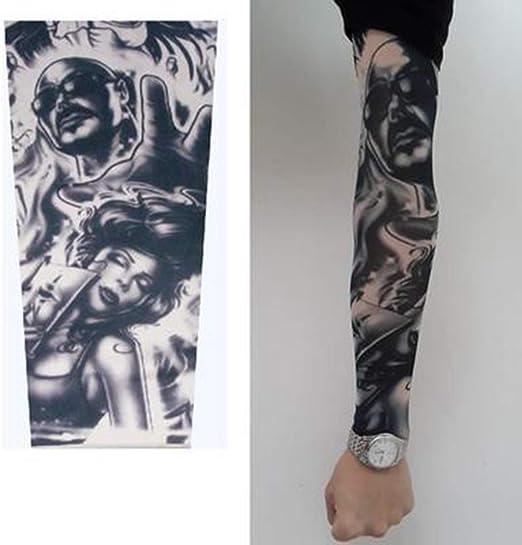 Xingsiyue Manga del Brazo Falsos Tatuaje - Slip On Tatoo Mangas ...
