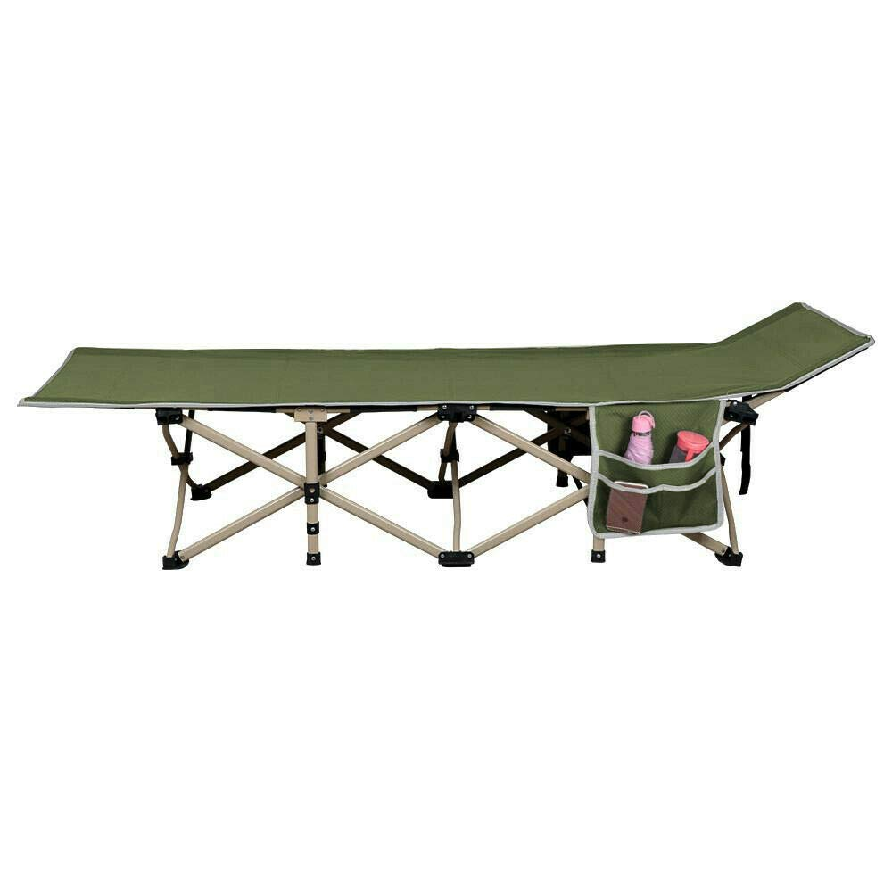 Eight24hours Folding Camping Bed Outdoor Portable Military Cot Sleep Hiking Travel Army Green by Eight24hours