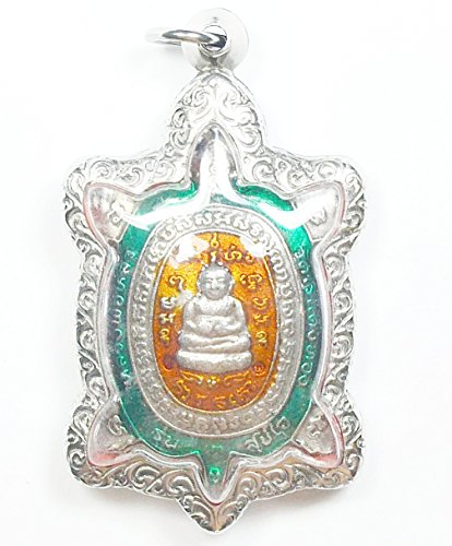 Thai Buddha Jewelry Gift Pendants Wealth & Lucky Phaya Tao Ruean Lp Lew Wat Rai Taeng Thong Amulet strong Life Protection Talisman