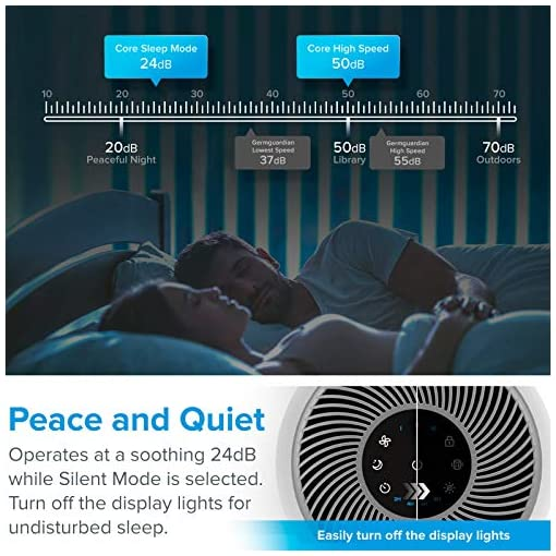 514OOz2uIoL. SS510  - LEVOIT Air Purifier for Home Allergies and Pets Hair Smokers in Bedroom, H13 True HEPA Filter, 24db Filtration System…