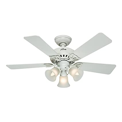 Hunter Fan Company 53081 The Beacon Hill 42 Inch Ceiling With Five White