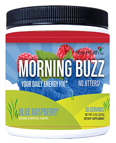 Sports Energy Drink by New Health, Pre Workout, Sports Nutrition Drink, Supports Lasting Energy, Endurance, Clarity, and Metabolism, 8 Ounce Powder Mix, 30 Servings (Blue Raspberry) (Blue Raspberry)
