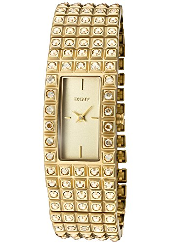 DKNY Crystals Gold-tone Expansion Bracelet Champagne Dial Women's watch #NY8245