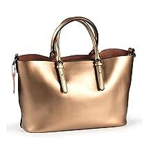 Kattee Women's Pure Color Leather Hobo Tote Shoulder Bag