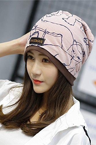 Generic The new animal bordered cap men and women fall and winter warm double printing piles of Korean fashion hat cap head protection cap month of by Generic (Image #4)