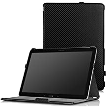MoKo Samsung Galaxy Note PRO & Tab PRO 12.2 Case - Slim-Fit Multi-angle Folio Cover Case for Galaxy NotePRO & TabPRO 12.2 Android Tablet, Carbon Fiber BLACK