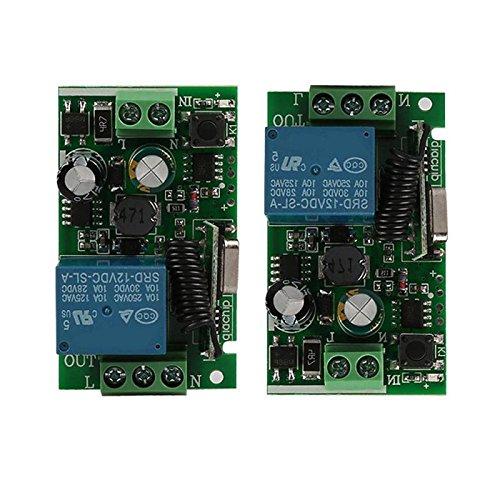 RETYLY Universal 433 MHz AC 220V 1 canal de interruptor de control remoto modulo de receptor de rele inalambrico para 433 MHz RF transmisor de garaje