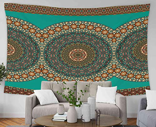 Pamime Wall Tapestry Large, Home Decor Tapestry Nate Flal Ure Pattern Vintage Mala Elements Can Be Used Wallpaper Pa Dorm Room Bedroom Living Room 60X50 Inches(150X130Cm) Bedspread Inhouse