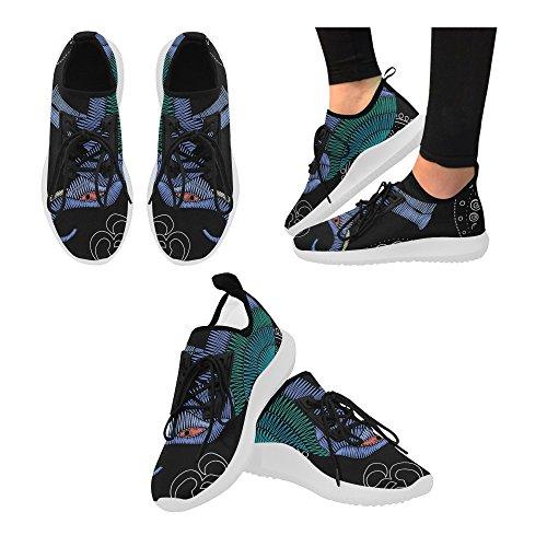 Interestprint Mooie Vlinder Op Jeans Dolfijn Ultra Lichte Loopschoenen Voor Vrouwen Elephant2