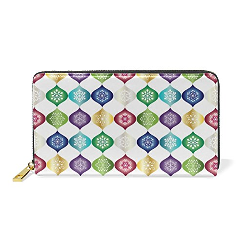 Clutch Zip Handbags Organizer TIZORAX Around Abstract Wallet Womens Snowflakes Purses And 8wntgZAq