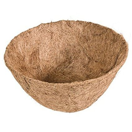 Rocky Mountain Goods Hanging basket Liner Replacement - Extra thick coco lasts longer and requires less watering - 100% natural coconut planter basket liner for flowers / vegetables (1, 14