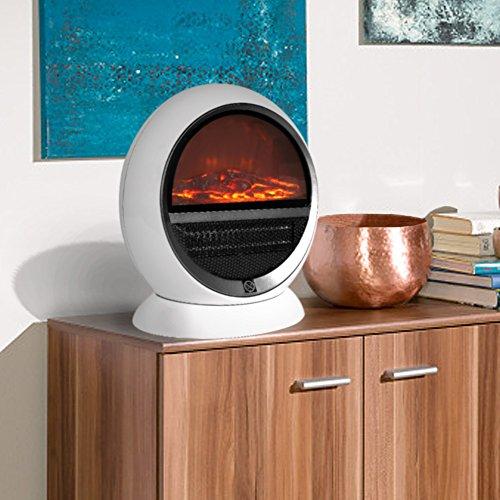 Heizlüfter Elektrischer Kamin Tischkamin Heizung Ofen Kaminofen Heizstrahler Feuereffekt Wärme Überhitzungsschutz sicher und sauber 1500 Watt