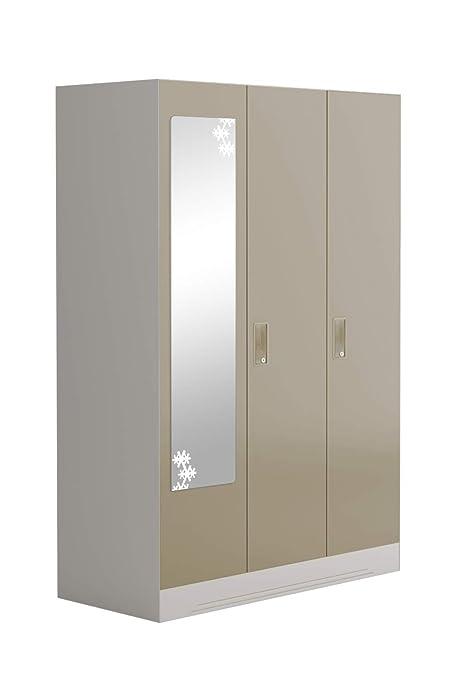 Godrej Interio Slimline Slim00346 3 Door Almirah With 8 Shelves And