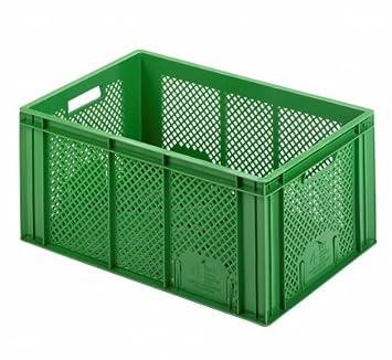 énorme réduction 6ee5c 991c6 Lot de 3 caisse verte 60 x 40 x 26 cm Boîte en plastique ...