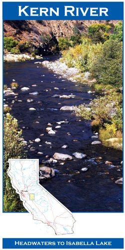 Kern River 11x17 Fly Fishing Map