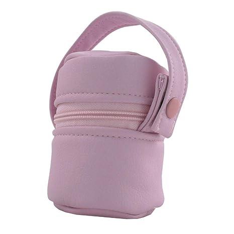 Suley Porta Chupete Polipiel Bebe - Color Rosa: Amazon.es: Bebé