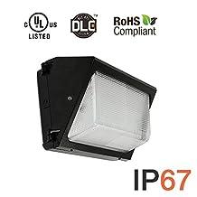 Hakkatronics 60-Watt Outdoor LED Wall Pack Security Light Fixture cUL-Listed, Warm Soft White 3000K, IP67 Waterpproof