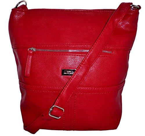 Schultertasche Handtasche Umhängetasche Damentasche Shopper rot