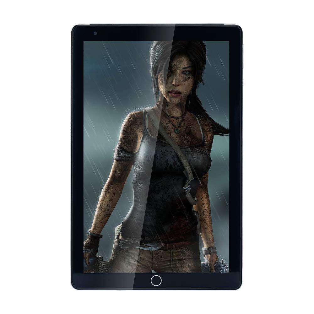 JINYJIA 10.1 Pollici Tablet PC, Google Android 4.4 GSM WCDMA 3G Phablet, 1280x800P HD Schermo Capacitivo, Quad Core 1GB RAM 16GB ROM, Doppia Fotocamera 2.0MP 0.3MP, 4500mAh, WiFi, Nero HN-PC-10-Black