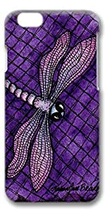 iPhone 6 Case, Custom Design Protective Covers for iPhone 6(4.7 inch) PC 3D Case - Purple Dragonfly