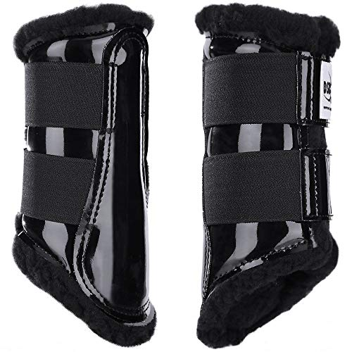 Dressage Sport Boots, LLC DSB Original Black w/Black Fleece, Black, X-Large