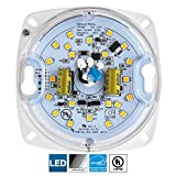 Sunlite LED Retrofit Light Engine, 3-Inch, 3000K Warm White, 10 Watt, Dimmable, Flush Ceiling Fixture LED Upgrade Panel, Energy Star Compliant, 90 CRI