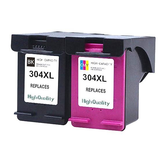 Teng® 2 Cartuchos de Impresora HP 304 304XL (Negro, Tricolor ...