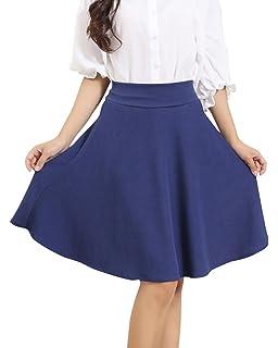 Femme Grande Taille Mi-Longue Patineuse Trapèze Jupe Taille Haute ... 1e5cfea38107