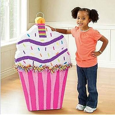 YA OTTA PINATA - Cupcake Giant Pinata - White/Pink: Toys & Games