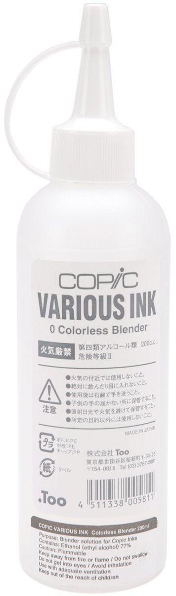 Copic Various Ink Refill For Sketch & Ciao Markers 6.76oz-Colorless Blender Copic Marker