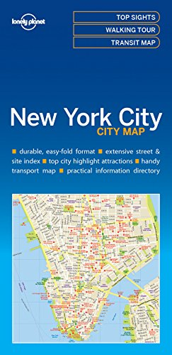 Lonely Planet New York City (New York Tourist Map)