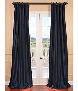 Blackout Curtains blackout curtains navy blue : Amazon.com: Half Price Drapes PTCH-BO194010-108 Blackout Faux Silk ...