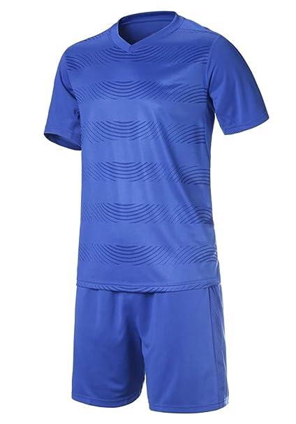 XFentech Camisetas de fútbol, Camiseta de Manga Corta Transpirable + Pantalones Cortos de