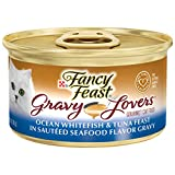 Purina Fancy Feast Gravy Lovers Ocean Whitefish & Tuna Feast in Sauteed Seafood Flavor Gravy Wet Cat Food - 3 oz. Can