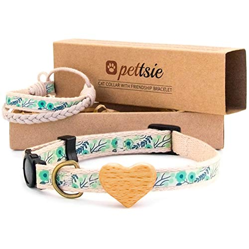 Pettsie Cat Collar Breakaway Safety with Heart and...