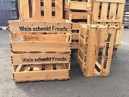6er Set neue Weinkiste - Ideal als Wandregal / Bücherregal / Schuhregal Giehl