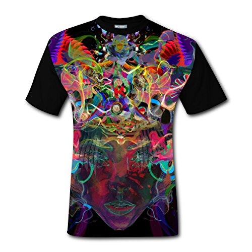 Creative Ideas in Mind Men 3D Graphic Printed Short Sleeve T-shirts Crew (Good Halloween Ideas For Blondes)