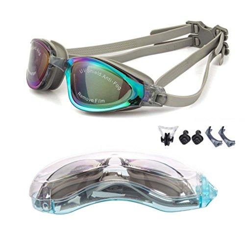 YJWB Swimming Goggles,Swim Goggles No Leaking Anti Fog UV Protection Triathlon Swim Goggles,Adult Men Women Youth Kids Child, 5 Choices