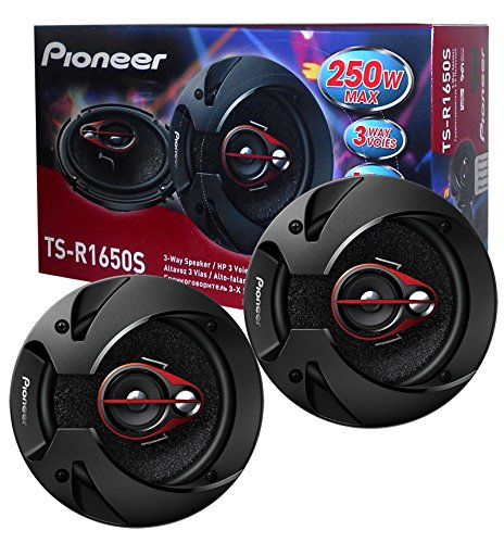 Pioneer TS-R1650S 6.5-Inch 80W RMS 3-Way Coaxial Speakers, Set of 2