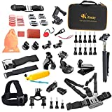 Kitway Sports Accessories Kit for GoPro HERO 4 / 3+ / 3 / 2 / 1 / SJ4000 / SJ5000 / SJ6000 (50-in-1)