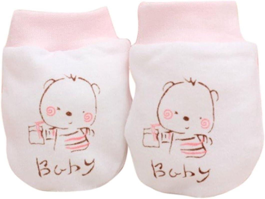 Baby Gloves SHOBDW 1 Pairs Newborn Baby Infant Boys Girls Cute Cartoon Anti Scratch Mittens Soft Gloves Gift