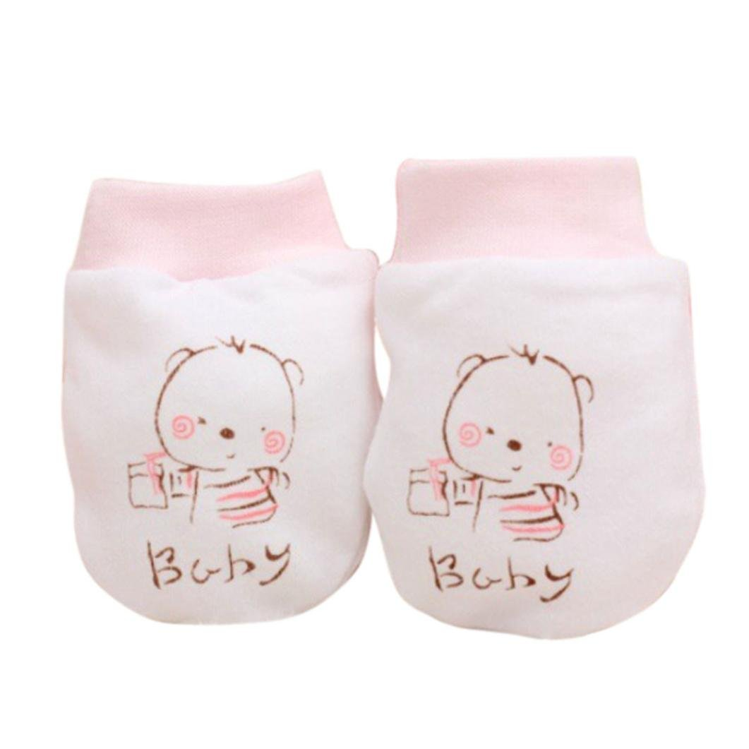 Baby Gloves, SHOBDW 1 Pairs Newborn Baby Infant Boys Girls Cute Cartoon Anti Scratch Mittens Soft Gloves Gift SHOBDW-51