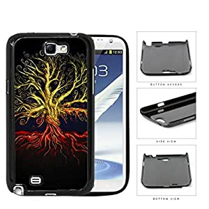 Tree Of Life Red Roots At Night Hard Plastic Snap On Cell Phone Case Samsung Galaxy Note 2 II N7100