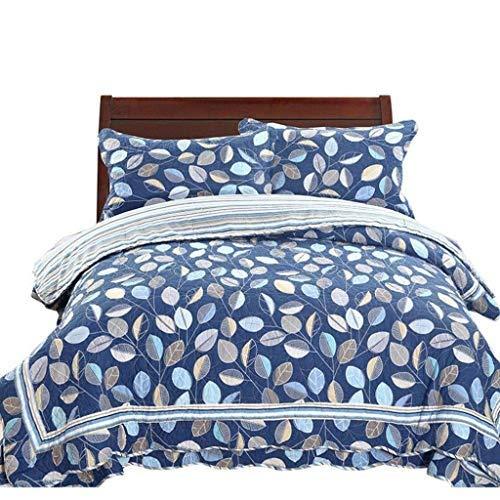 ベッドライニング キルトのベッドカバー4ピース、100%コットンのベッドカバー/キルトセットパッチワークの花のキルトツインサイズのベッドカバー 写真ベッドライニング B07SYP8TZX